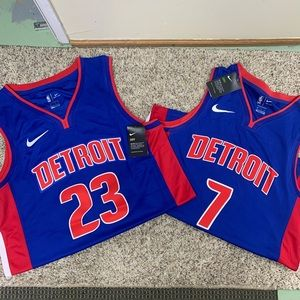 Detroit Pistons NBA Nike Jersey Bundle